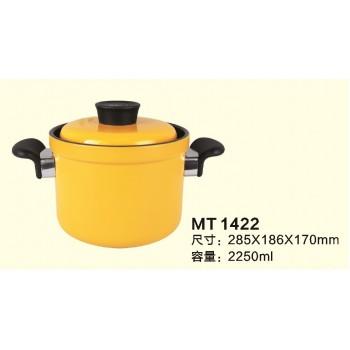 高型雙耳陶瓷黃金鍋