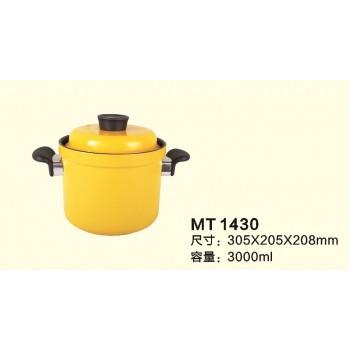 高型雙耳陶瓷黃金鍋 (雙蓋)